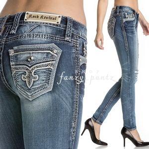 ROCK REVIVAL Skinny Jeans Kamea 28 distress flap